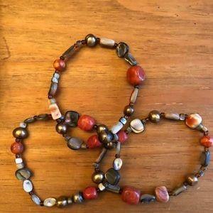 Silpada Designs set of 3 stretch bracelets